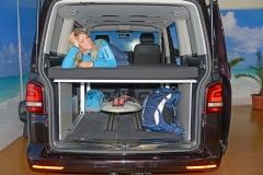 VanEssa im VW Beach / Multivan