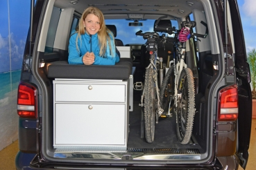 vanessa mobilcamping camping ausbau f r deinen van t5 t6 mercedes u v m bikerbett. Black Bedroom Furniture Sets. Home Design Ideas