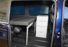 Schlafsystem Van im Mercedes Bus