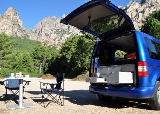 VW Caddy in Korsika