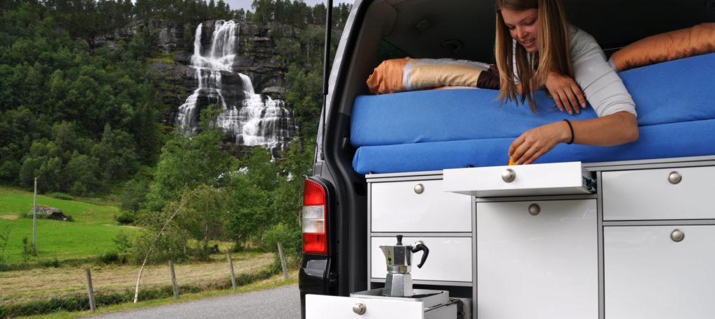 Campingküche in Norwegen