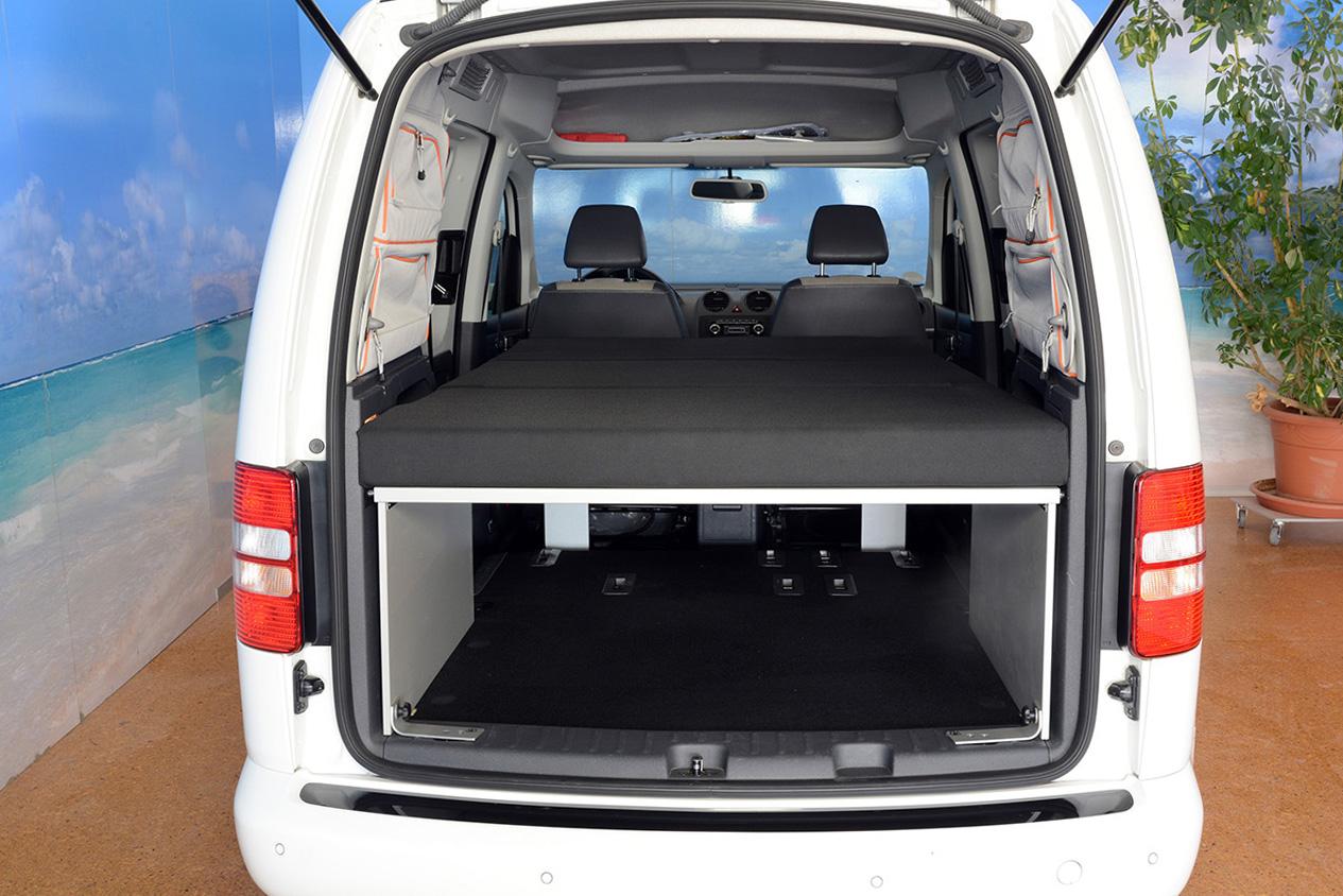 campingbett vw caddy campingbett f r vw caddy postcaddy. Black Bedroom Furniture Sets. Home Design Ideas